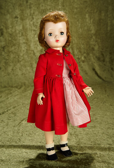 """18"""" Tosca-haired Winnie Walker in original tagged costume. $200/400"""
