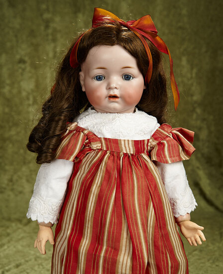 """22"""" German bisque character, 122, by Kammer and Reinhardt, toddler body. $400/500"""
