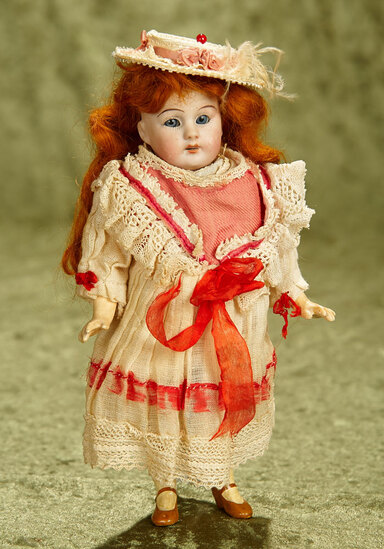 """8"""" German bisque flapper child by Simon and Halbig. $300/400"""