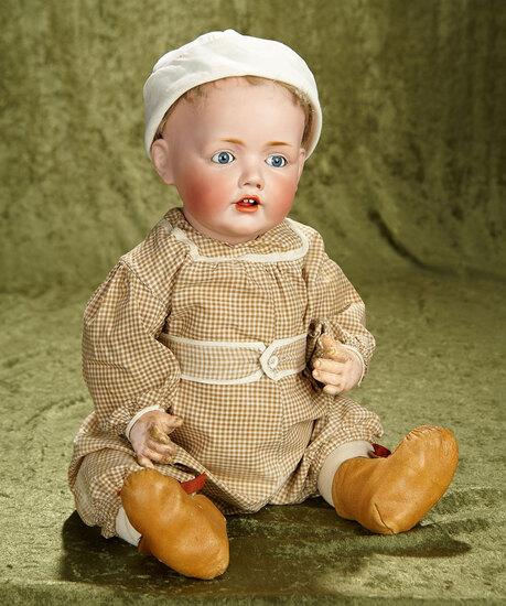 "20"" Wonderful German bisque character ""Hilda"" by Kestner, original wig, fine bisque. $2000/2200"
