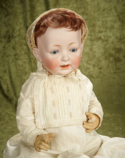 "25"" Grand size Kestner 211 character baby with perfect bisque on original composition body."