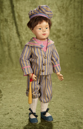 "15"" American wooden boy by Schoenhut with nice original paint albeit scuffed."