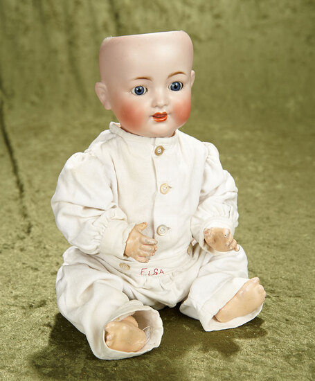 "15"" German bisque K*R 126 character baby with perfect bisque, clean body and sleep eyes."