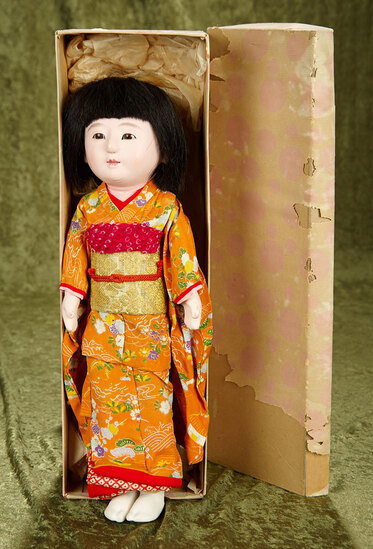 """16"""" Japanese Ichimatsu child in original outfit and unplayed with condition."""