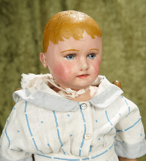 """22"""" Oil painted stockinette child by Martha Chase with weighted body."""