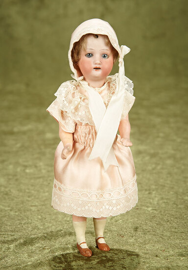 """8"""" German bisque 250 by Heubach Kopplesdorf on a great flapper style body with sleep eyes."""
