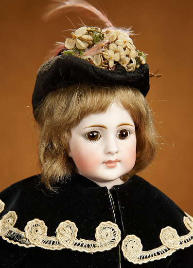 Early German Bisque Closed Mouth Doll, Model 920, Simon and Halbig, Bisque Bare Feet 900/1100
