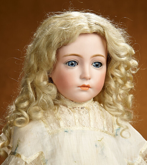 German Bisque Glass-Eyed Art Character Doll, Model 111, Kammer and Reinhardt 14,000/17,000