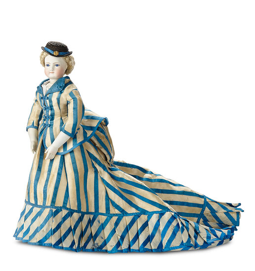 Stunningly-Beautiful German Bisque Twill-Bodied Lady Doll by Simon and Halbig 2400/2800