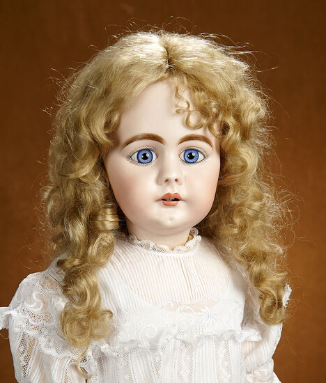 Early German Bisque Child Doll with Splendid Eyes  1200/1500