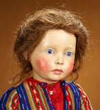 German Art Character Doll with Poignant Expression, Marion Kaulitz in Original Costume 6000/8000