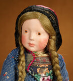 Outstanding German Art Character Doll in Original Costume by Marion Kaulitz 7000/9000