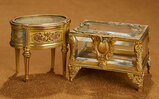 Two French Gilded Metal Miniature Vitrines 300/500
