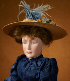German Bisque Art Character Lady, Model 152, Rosa Luxemburg, Simon and Halbig 14,000/18,000