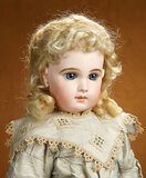 French Bisque Bebe Jumeau with Rare Incised Depose Mark in Original Jumeau Dress 4500/5800