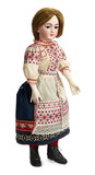Large Bisque Lady Doll for the French Market with Rare Daspres
