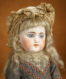 German Bisque Closed Mouth Doll, Model 908, by Simon and Halbig 1600/2100
