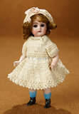German All-Bisque Miniature Doll with Black Ankle Boots 400/600