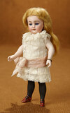 Large German All-Bisque Black-Stocking Doll, 886, by Simon and Halbig 800/1100