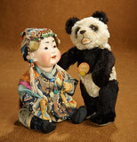German Bisque Character Portraying Chinese Baby, Model 243, by Kestner 2200/2800