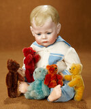 Five German Miniature Teddy Bears in Vibrant Colors 600/800