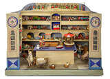 German Wooden Toy Shop with Erzebirge Toys Attributed to Christian Hacker 2200/2800