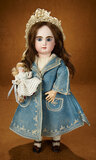 French Bisque Bebe Mascotte by May Freres with Her Own All-Bisque Doll 3500/4500