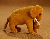 Rare Early German Velvet Elephant by Steiff with Early Button in Ear 800/1200