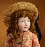German Bisque Art Character, Model 128, by Simon and Halbig with Painted Eyes 9500/12,500