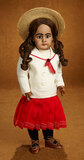 German Brown-Complexioned Bisque Doll, 949, by Simon and Halbig 1100/1400