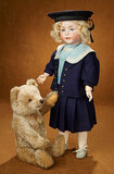 Rare German Bisque Toddler, 1488, by Simon and Halbig in Mariner Costume 2400/2800