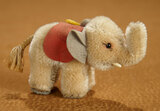 German Mohair Miniature Grey Elephant by Steiff with Original Button and Label 300/400