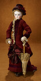 Fine French Bisque Poupee with Bisque Hands and Superb Original Couturier Costume 3500/4500