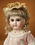 Beautiful French Bisque Brown-Eyed Bebe by Schmitt with Original Signed Body 7500/9500