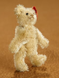 German Miniature Brown Teddy Bear by Steiff with Red Cloth Label and Button in Ear 400/500