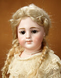 Rare German Bisque Closed Mouth Doll, 919, by Simon and Halbig 2200/2700