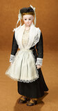 German Bisque Lady Doll, Rare Model 1358, by Simon and Halbig in Original Costume 900/1100