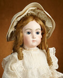 Beautiful French Bisque Bebe Triste by Emile Jumeau in Superb Antique Costume 10,000/12,500