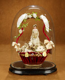 French Globe de Mariee with Bride and Historical Ephemera  600/900
