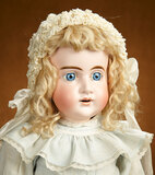 Early German Bisque Child with Elongated Facial Modeling 800/1100