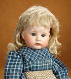 French Bisque Fretful Character, 252, by SFBJ with Toddler Body 1600/1900