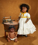 German Bisque Brown-Complexioned Bisque Doll, Model 739, by Simon & Halbig 900/1200