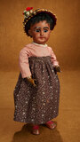 German Bisque Brown-Complexioned Child Doll, Rare Model 1029, by Simon and Halbig 1200/1500