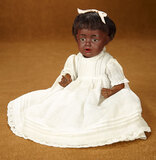 Rare German Brown-Complexioned Bisque Doll, Hilda, by Kestner 900/1100