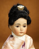 German Bisque Asian Child, Model 164, attributed to Simon and Halbig 900/1200