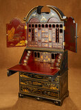 Wooden Secretary Desk in the Chippendale Manner with Chinoiserie Decorations 800/1200