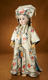 German Bisque Doll, Model 939, in Grand Size with Superb Antique Costume 1700/2300