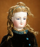 Gorgeous French Bisque Smiling Poupee by Leon Casimir Bru with Original Wig 3200/3800