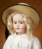 Grand German Bisque Child, 1279, by Simon and Halbig with Lovely Pique Costume 1200/1500