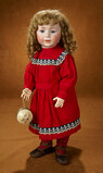 Appealing German Bisque Character, 1488, by Simon and Halbig with Antique Toy 1800/2300